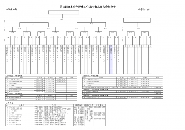 第45回日本少年野球ミズノ旗争奪広島大会
